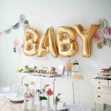Gold Silver Baby Letters Kit Foil Balloon Baby Shower Decoration Baloons ballon