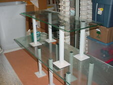 """Glass Display Shelf Stands 1 LOT of 12 stands 9"""" tall"""