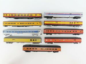LOT of 9 N Scale Assorted SP UP WAB & Royal American Shows Passenger Cars