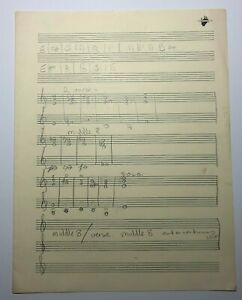 John Entwistle of The Who Handwritten Music Chart & Notes to Untitled Song w COA