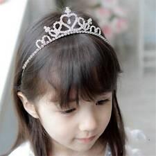Girl Kids Bridemaid Ballerina Crown Princess Tiara Hair Headband JA
