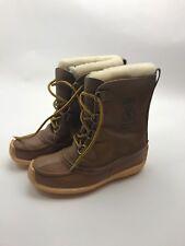 Sorel Vintage Kaufman Canada Made Womens 8 Chugalug Leather Winter Snow Boots gu