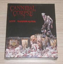 CANNIBAL CORPSE - LIVE CANNIBALISM - BOXSET CD + VHS LTD ED. SIGILLATO (SEALED)