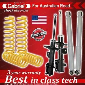 4 x Raised Gabriel Shock + Coil Spring for Suzuki Grand Vitara 4WD JB JB627 6CYL