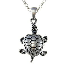"Sterling Silver Turtle with flexible legs Pendant with 18"" Chain & Box"
