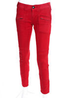 Free People Womens Low Rise Stretch Skinny Jeans Red Size 25