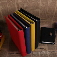 4Size Personal Pocket Organiser Planner Filofax Diary Notebook PU Leather Cover