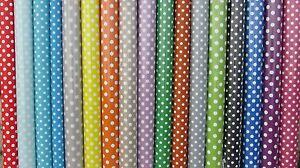 Vinyl PVC Tablecloth * Easy Wipe Clean POLKA DOT Spot Patio Oilcloth 140cm Wide*