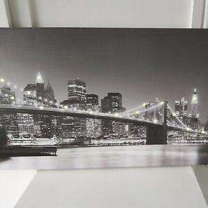 Large Light Up New York city Skyline Canvas