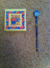Teddy Bear Box with Paper and Pencil & Blue / Yellow Monkey Pencil Blue Rubber