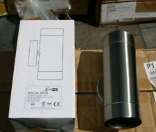 KNIGHTSBRIDGE WALL2L Up and Down IP65 Wall Light Stainless Steel