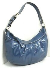 COACH BLUE PATENT GENUINE LEATHER SHOULDER BAG HANDBAG / HOBO