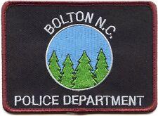 BOLTON NORTH CAROLINA NC POLICE PATCH