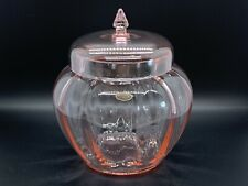 Cambridge Glass Pink Temple or Ginger Jar Signed and Cambridge Sticker