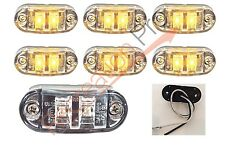 "6 NEW 2.6""x1"" CLEAR/AMBER SURFACE MOUNT LED CLEARANCE MARKER LIGHTS EL-112602CA"