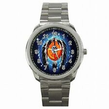 Indian Medicine Wheel Dream Catcher Native American Men's Stainless Steel Watch!
