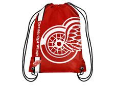 Detroit Red Wings Big Logo NHL Hockey Nylon Drawstring Back Sack Gym Bag