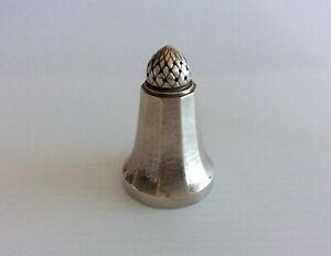 Antique Georg Jensen Acorn Solid Sterling Silver Pepper Pot Shaker