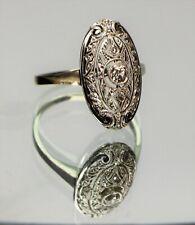 Ovaler Art Deco Brillant Ring 585 Weißgold - 20922 –
