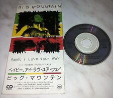"CD BIG MOUNTAIN - BABY, I LOVE YOUR WAY - BVDP-103 - JAPAN 3"" INCH - SINGLE"