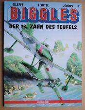 Biggles, Band 7 Der 13. Zahn des Teufels    Comic  Oleffe Loutte Johns