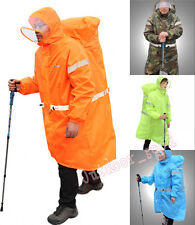 Outdoor Camping Hiking Backpack Tarp Rain Cover One-Piece Raincoat Poncho Cape