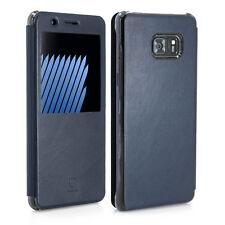 BASEUS Schutzhülle Flip Case Handy Hülle für Samsung Galaxy Note 7 - blau