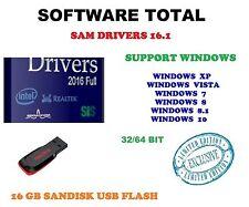 WINDOWS DRIVERS 16.1  Windows 10 8.1 8 7 Vista XP  16GB USB Drive