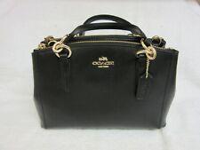 COACH Crossgrain Leather Mini Christie Carryall Satchel Crossbody Bag F36704 NWT