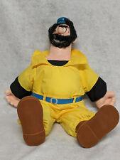 """Vintage Hamilton 1985 Popeye Brutus 22"""" Giant Stuffed Plush Doll-Free Shipping"""