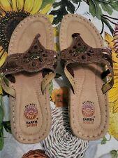 NWOT  Super Nice Earth SPIRIT GELRON Womens Thong Sandals Flip Flops Sz9 Summer
