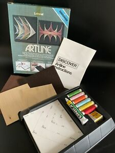 Vintage Artline Pin Art Set String Art Retro Letraset 1970s Kit Retro