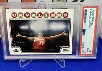 "2008 Topps Lebron James ""Chalk Card"" Grade Mint PSA 9 Fresh Slab Iconic card!"