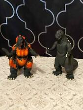 2002 TOHO Godzilla King of Monster's Collectible Figure Bandai 2pc Set