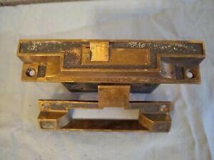 Vintage - Rye Door Lock - Rabbeted Mortise Lock - w/ Strike Plate Brass - Bronze