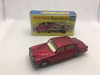 Matchbox Superfast 24 Rolls Royce Silver Shadow N/MINT In Original Box
