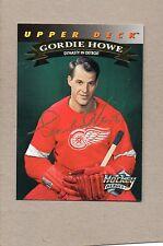 gordie howe detroit red wings card 1992 ud hockey heroes stamped auto insert 20