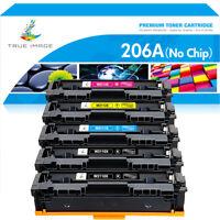 5PK Compatible For HP 206X W2110X Color Cartridge MFP  pro M283fdw M255dw Toner