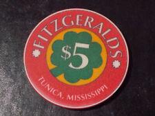 New ListingFitzgeralds Casino Hotel $5 hotel casino gaming poker chip ~ Tunica, Ms