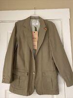 Orvis Mens Zambezi Twill Travel Jacket Blazer Sage Green NEW WITH TAGS Size 44 L
