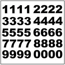 "Lot of 40 -  3"" Black Vinyl Mailbox, Tool Box, Locker Numbers Decal Stickers"