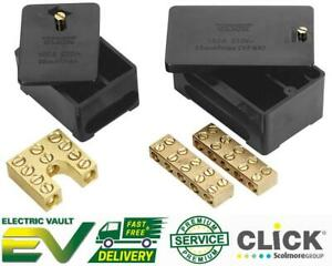 100 Amp Single & Double Pole 5 Way 35mm Henley Block For Meter Tails Connector