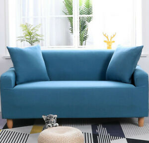 1-4Seater Sofa Cover Stretch Universal  Soft Couch Protector with Elastic Bottom