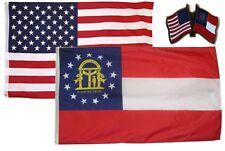 Wholesale Combo Usa & State of Georgia 3x5 3'x5' Flag & Friendship Lapel Pin
