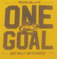 Toledo Walleye Minor League Hockey Ohio Echl t-shirt One Goal 2017 Cup Playoffs