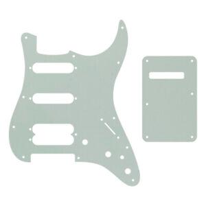 For US 1991 Fender Ultra SSH Strat guitar pickguard & Back Plate, Parchment