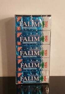 Falim Mint Carbonate Flavoured Sugarfree Chewing Gum 20 packs of 5 = 100 pieces