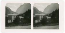 Stereo, Suisse, Stalden Vintage stereo card -Stalden est une commune suisse du