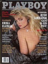 Playboy Magazine December 1993 Playmate Erika Eleniak / Rush Limbaugh Interview