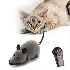 Pet Wireless Remote Control Rat Mouse Toy Moving Mouse For Cat Playing Chew C MT